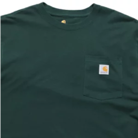 CARHARTT  L/S WORKWEAR POCKET TEE K126 -HUNTER GREEN-