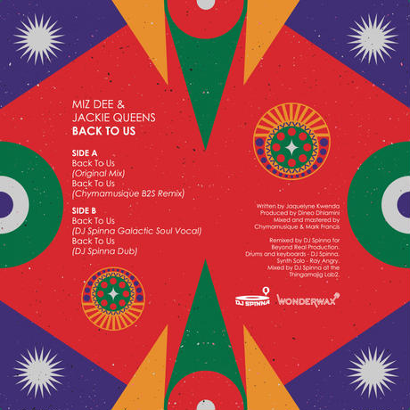 予約 - Mizz Dee & Jackei Queens / Back To Us (DJ Spinna,Chymamusique Remix) [12inch]