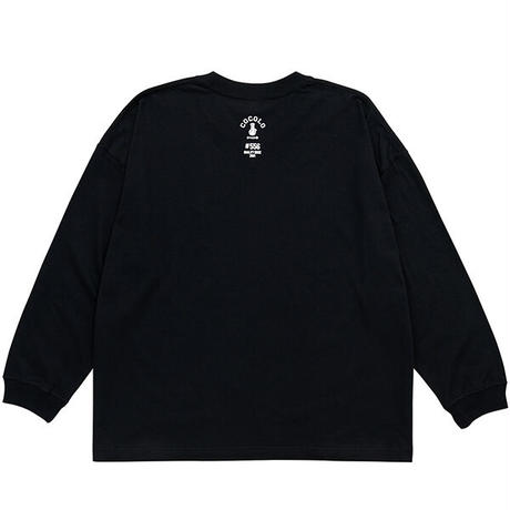 EMBROIDERY BONG WIDE L/S(BLACK)