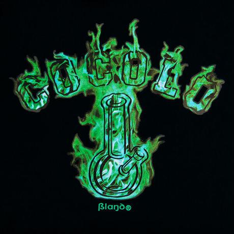 FIRE BONG HOOD ( GREEN FIRE/BLACK )