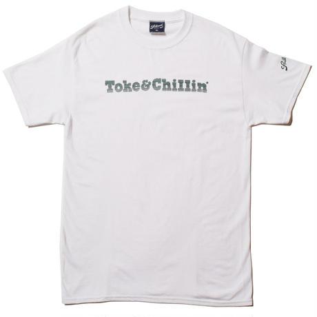-PRILLMAL- MIDNIGHT TOKER !!! : S/S T-SHIRTS  (White&Green)