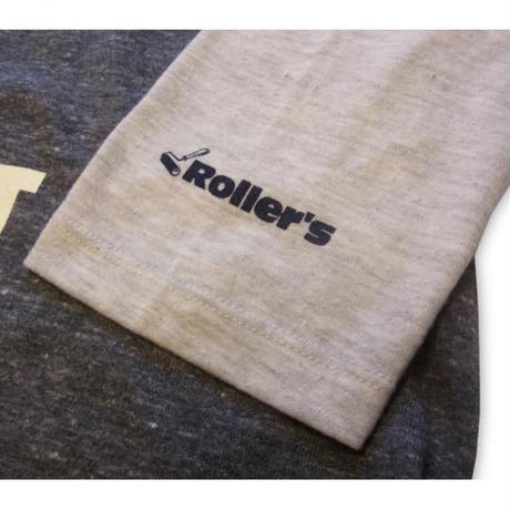 ROLLERS / PRIMERS 3/4 Tee . charcoal x oatmeal
