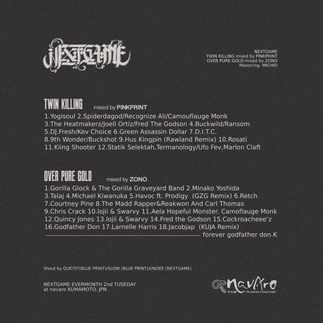DJ PINKPRINT & DJ ZONO / NAVARO×NEXTGAME'z  vol.1 [MX CD]