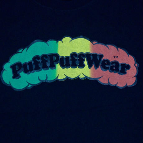 Puff Puff Gradation TEE (BLACK)