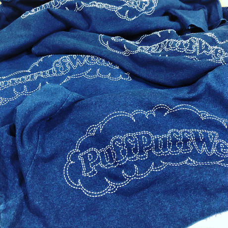 PuffPuff Stitch Denim TEE ( 先染めインディゴ )