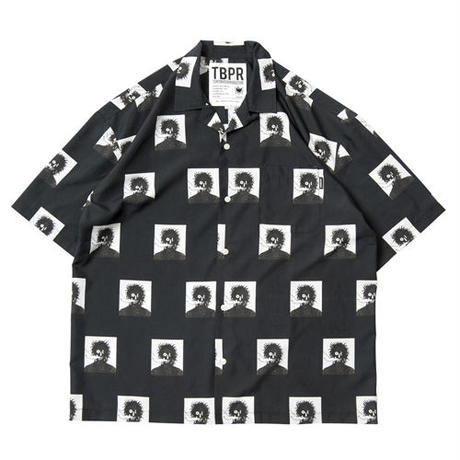 6月発売 / TIGHTBOOTH x OILWORKS - SMOKER ALOHA BLACK SHIRT