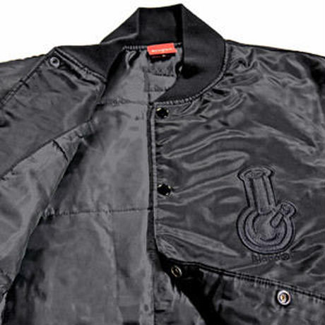 BONG APPLIQUE STADIUM JKT (BLACK)