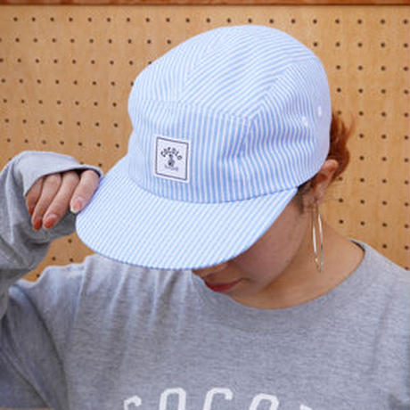 SQUARE LOGO STRIPE 5PANELS CAP