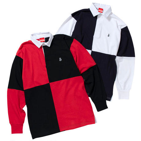 QUARTERED RUGBY SHIRTS (BLK/RED)