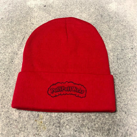 【RENEWAL】Puff Puff KNIT CAP(RED)