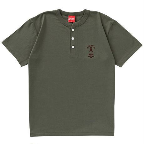 FLOCKY HENRYNECK S/S TEE (ARMY GREEN)