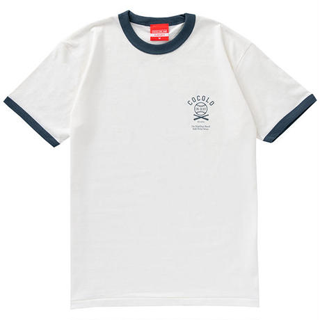 COCOLO BLAND × 韻シスト W-NAME RINGER TEE (WHITE)