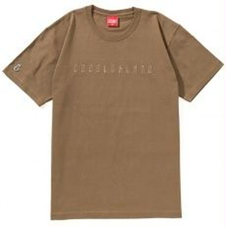 EMBROIDERY HEAVY S/S TEE(CAMEL)