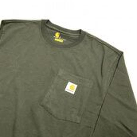 CARHARTT  L/S WORKWEAR POCKET TEE K126 -MOS GREEN-
