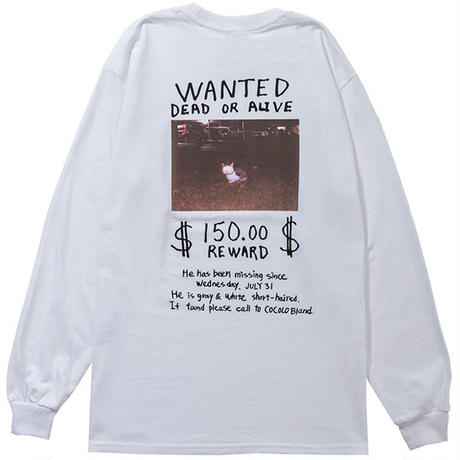 近日入荷 - MISSING CAT L/S TEE(WHITE)