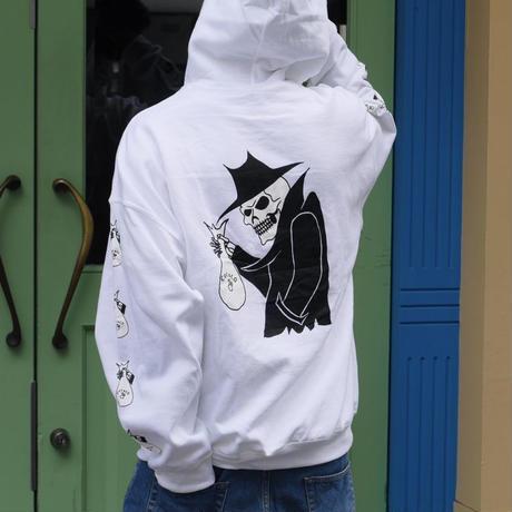 SKULL HOODIE (WHITE)