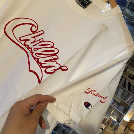 -PRILLMAL- Chillin'!!! S/S T-SHIRTS (white× red)