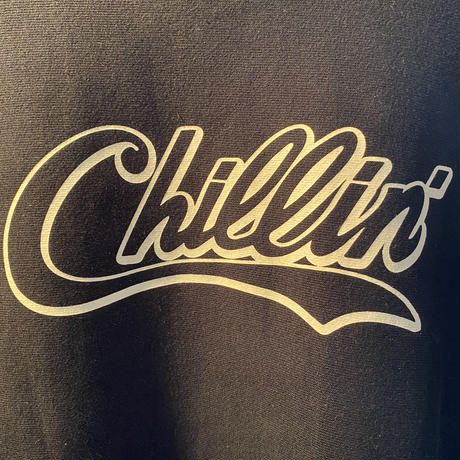 CHILLIN' !! CREW NECK SWEAT (BLACK) -size XL-