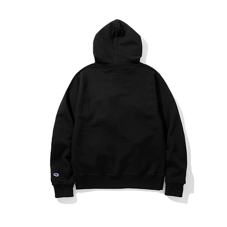 Champion / Power Blend Pullover Hoodie -Black-
