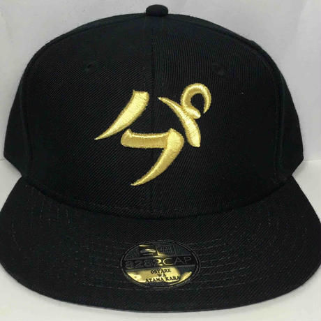 【3D刺繍】パフ SNAPBACK CAP(BLACK/ GOLD)