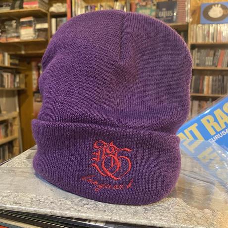 Banguard×Lef deep Knit Cap(purple&red)