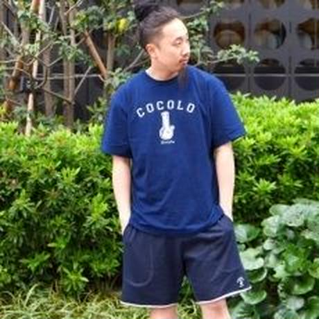 CUT OFF SWEAT SHORTS (NAVY)