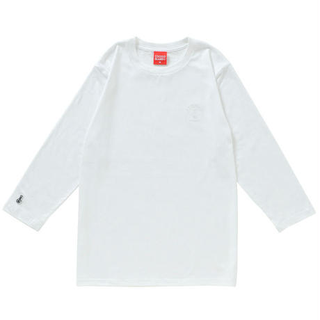 BONG EMBROIDERY 3/4 SLEEVE TEE (WHITE)