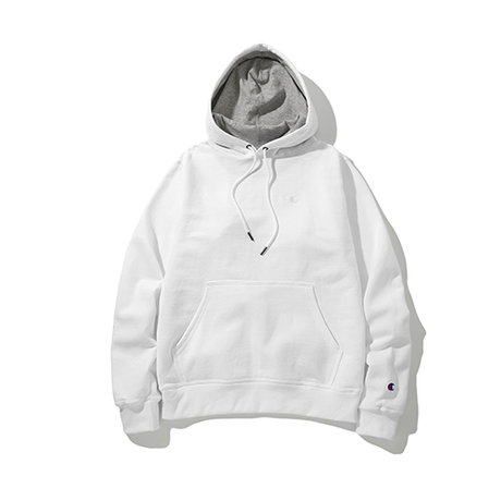 Champion / Power Blend Pullover Hoodie -White-