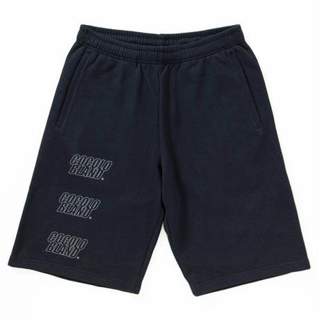 OUTLINE LOGO SWEAT SHORTS(NAVY)