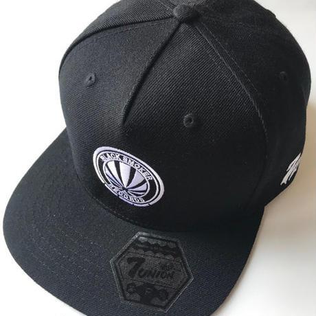 10月中旬 - 5PANEL-LOGO SNAP BACK CAP(BLACK&BLACK)