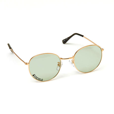 ROUND TOY SUNGLASS(GOLD/GREEN LENS)