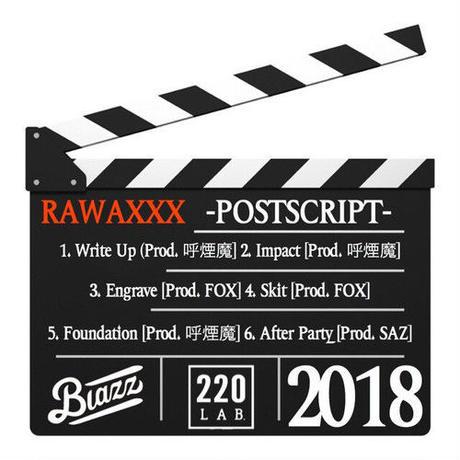 RAWAXXX / POSTSCRIPT [CD-R]