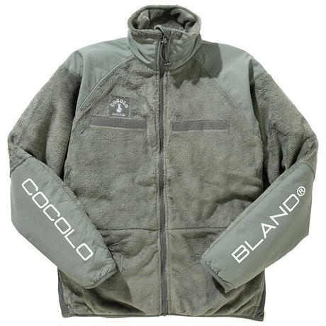 SLEEVE LOGO FLEECE JACKET (GRAY)