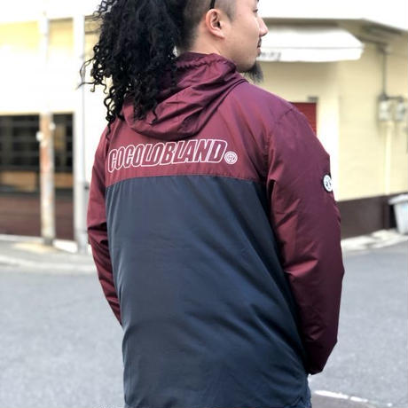 SWITCHING NYLON WINDBREAKER (MAROON/NAVY)