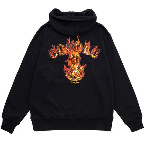 FIRE BONG HOOD ( ORANGE FIRE/BLACK )