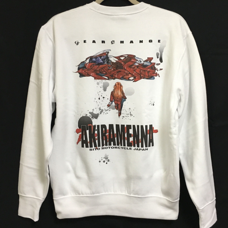 -AKIRAMENNA-SWEAT SHIRT [White]