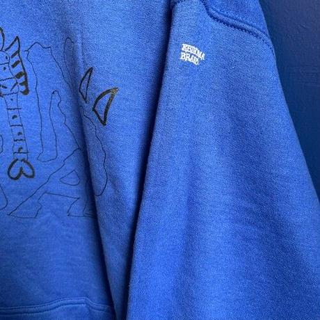 """Adult S kipper"" 8oz hoodie (Royal) -size L only-"