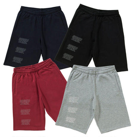OUTLINE LOGO SWEAT SHORTS(BURGUNDY)