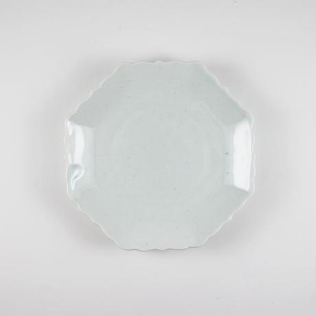 2245 輪花4寸皿(白瓷)