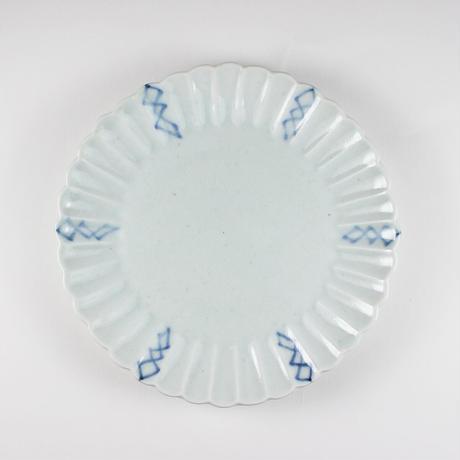 2245 桔梗5寸皿(染付)