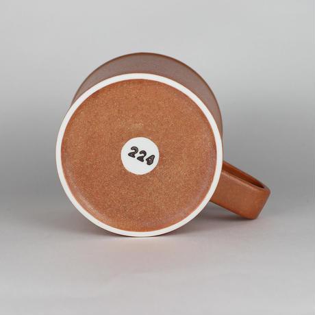 224porcelain スープマグ(茶)