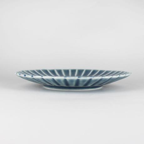 2245 桔梗5寸皿(薄瑠璃)