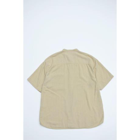 S/S No Collar Cotton Shirts