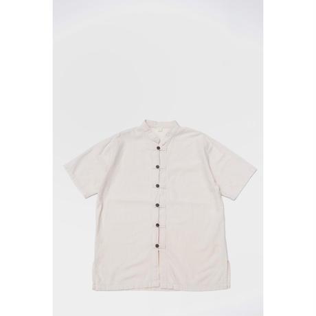 S/S No Collar Design Cotton Shirts