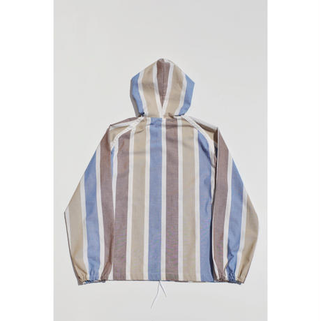 Zip-up Striped Parka