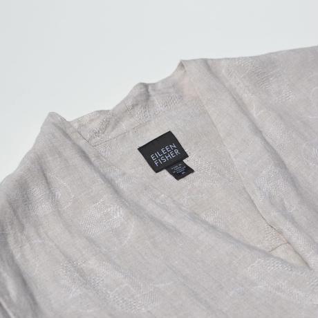 Design No Collar Linen Half Coat
