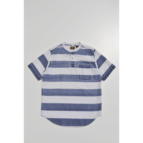 S/S Henly Neck Border Cotton Cut Sew