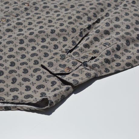 Paisley Pattern Cotton×Linen B.D Shirts
