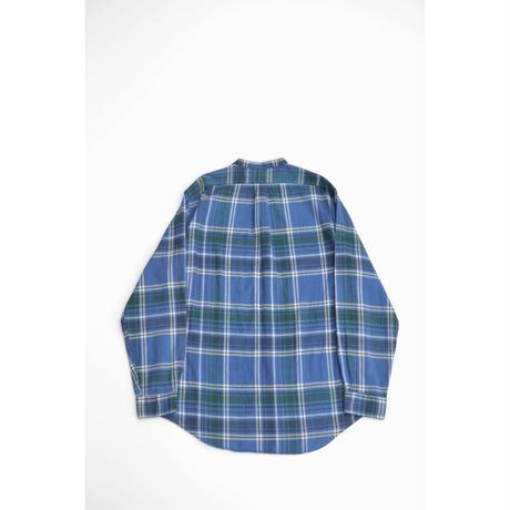 No Collar  Cotton Check Shirts