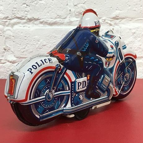 [Toy car] ブリキ/POLICE MOTORCYCLE